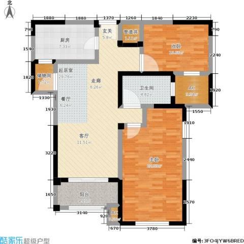 路劲主场琅悦2室0厅1卫1厨100.41㎡户型图