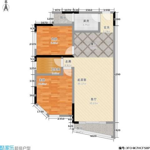 丽嘉花园2室0厅1卫1厨88.00㎡户型图