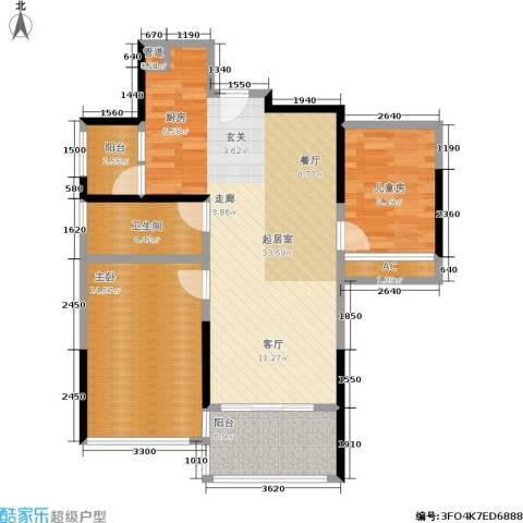 美泰天韵2室0厅1卫0厨72.00㎡户型图
