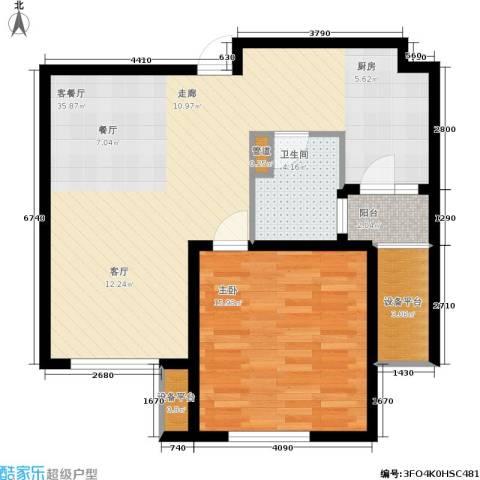 莘闵荣顺苑1室1厅1卫0厨71.00㎡户型图