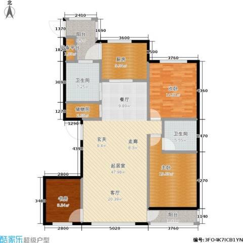 绿江太湖城黄金水岸3室0厅2卫1厨136.00㎡户型图