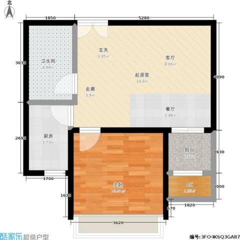 中南世纪城1室0厅1卫1厨64.00㎡户型图