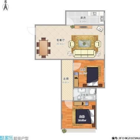 阳光小区2室1厅1卫1厨127.00㎡户型图