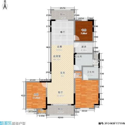 1+8时代广场3室0厅2卫1厨142.00㎡户型图