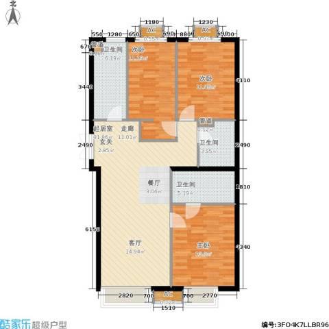 华联孔雀城3室0厅3卫0厨119.00㎡户型图