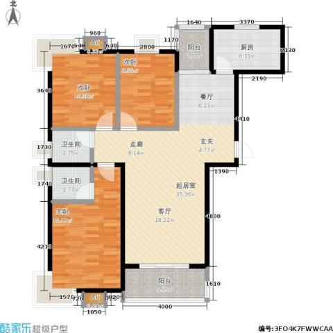 幸福时光3室0厅2卫1厨129.00㎡户型图