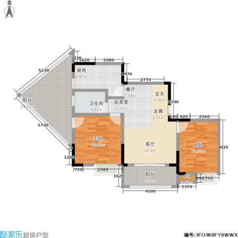 1+8时代广场2室0厅1卫1厨98.00㎡户型图