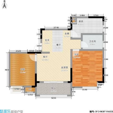 1+8时代广场2室0厅1卫1厨86.00㎡户型图