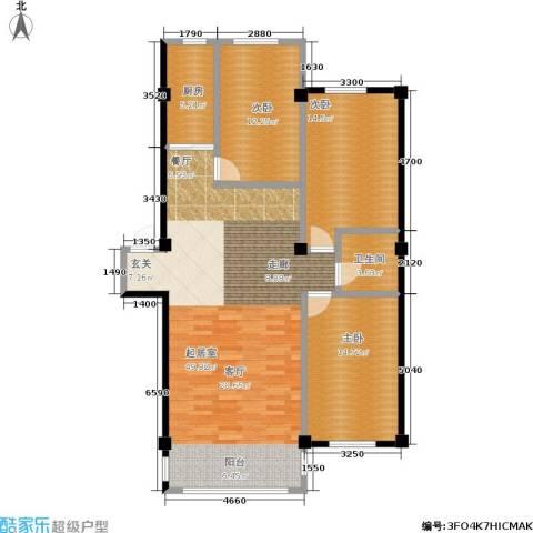 锦江绿云嘉园3室0厅1卫1厨121.00㎡户型图