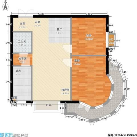 华联孔雀城2室0厅1卫1厨105.00㎡户型图