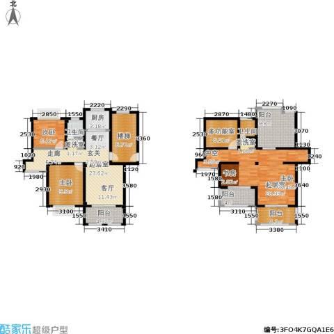 康桥郦湾2室0厅2卫1厨163.00㎡户型图