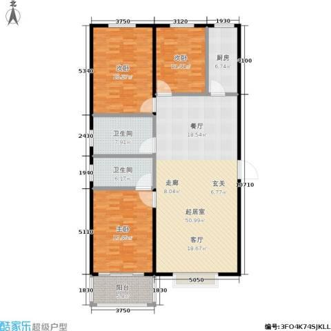浩正�林湾3室0厅2卫1厨138.00㎡户型图