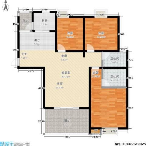 绿源春府3室0厅2卫1厨148.00㎡户型图