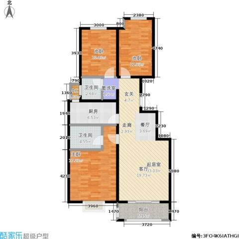 宏宇城3室0厅2卫1厨131.00㎡户型图