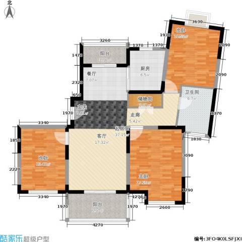 新时代富嘉花园3室0厅1卫1厨123.00㎡户型图