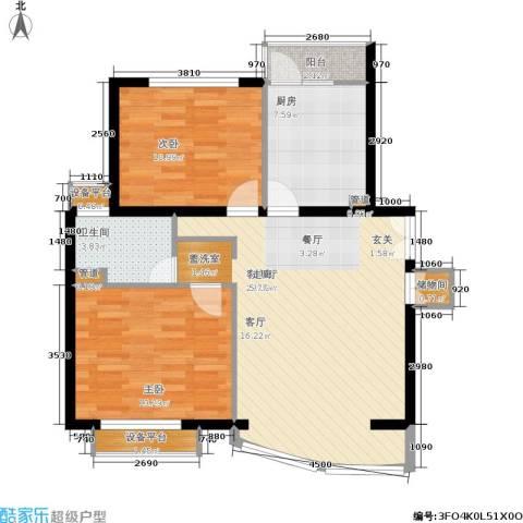 陆家嘴花园2室1厅1卫1厨78.00㎡户型图