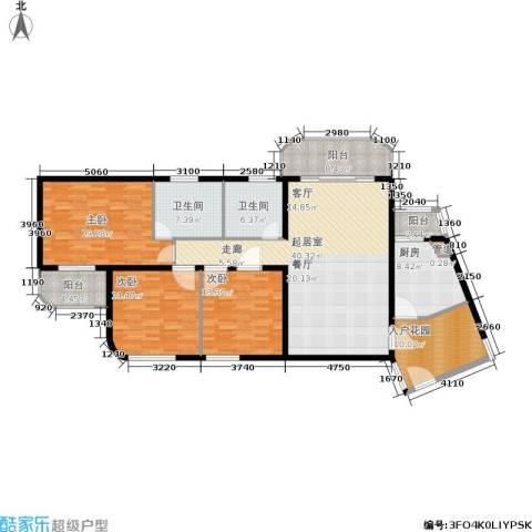 新家坡美树馆3室0厅2卫1厨150.00㎡户型图