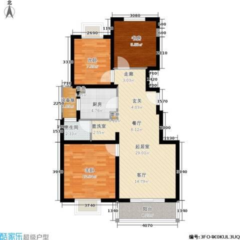 绿地蔷薇九里3室0厅1卫1厨83.00㎡户型图