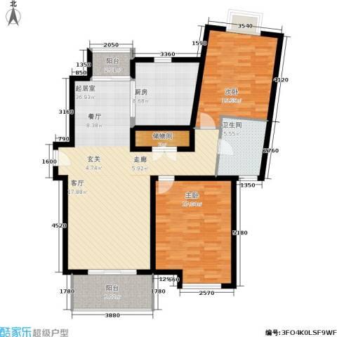 新时代富嘉花园2室0厅1卫1厨105.00㎡户型图