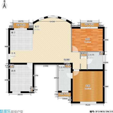 碧云东方公寓2室1厅2卫1厨125.81㎡户型图