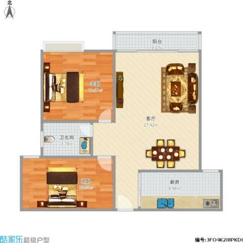 联发欣悦园1号3032室1厅1卫1厨86.00㎡户型图