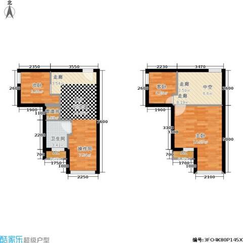 基星阁3室0厅1卫0厨82.00㎡户型图