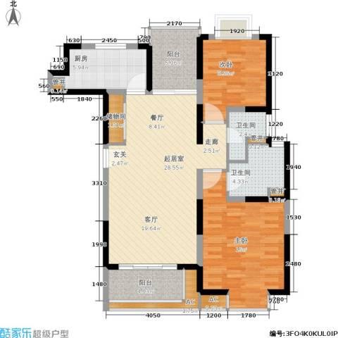 绿地蔷薇九里2室0厅2卫1厨92.00㎡户型图