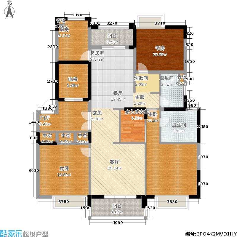 云荷廷139.00㎡C1户型3室2厅2卫