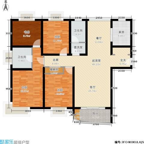 绿地蔷薇九里4室0厅2卫1厨143.00㎡户型图