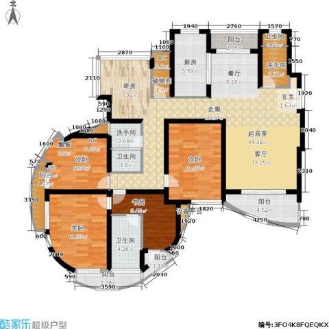金桥爱建园4室0厅3卫1厨135.00㎡户型图