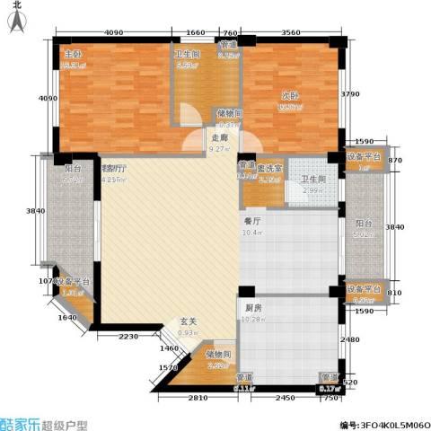 碧云东方公寓2室1厅2卫1厨124.61㎡户型图