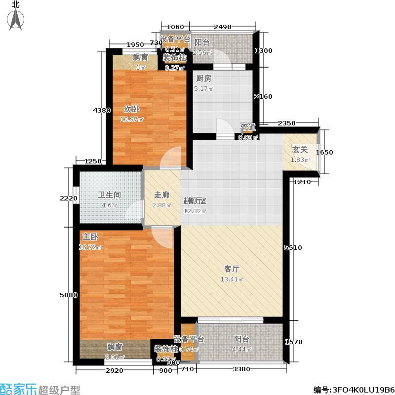 保利家园88.00㎡A面积8800m户型