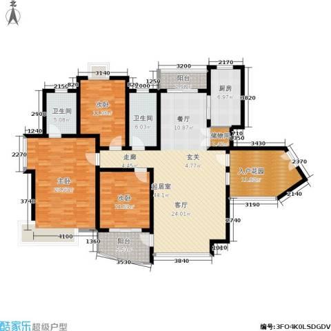 新时代富嘉花园3室0厅2卫1厨148.56㎡户型图