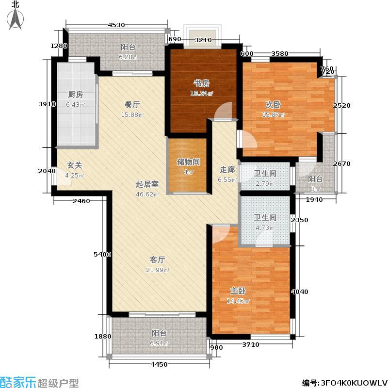 公园养生豪庭138.00㎡面积13800m户型