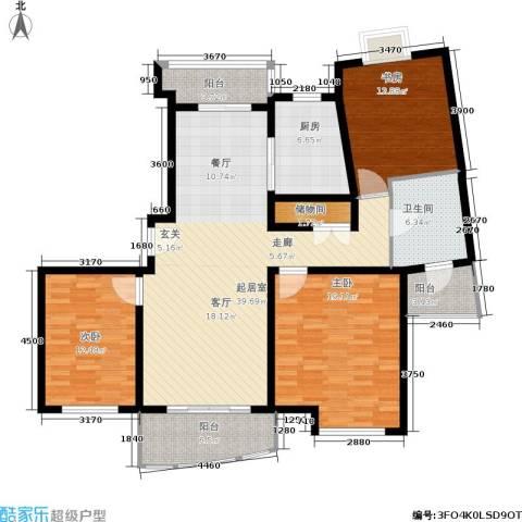 新时代富嘉花园3室0厅1卫1厨128.00㎡户型图