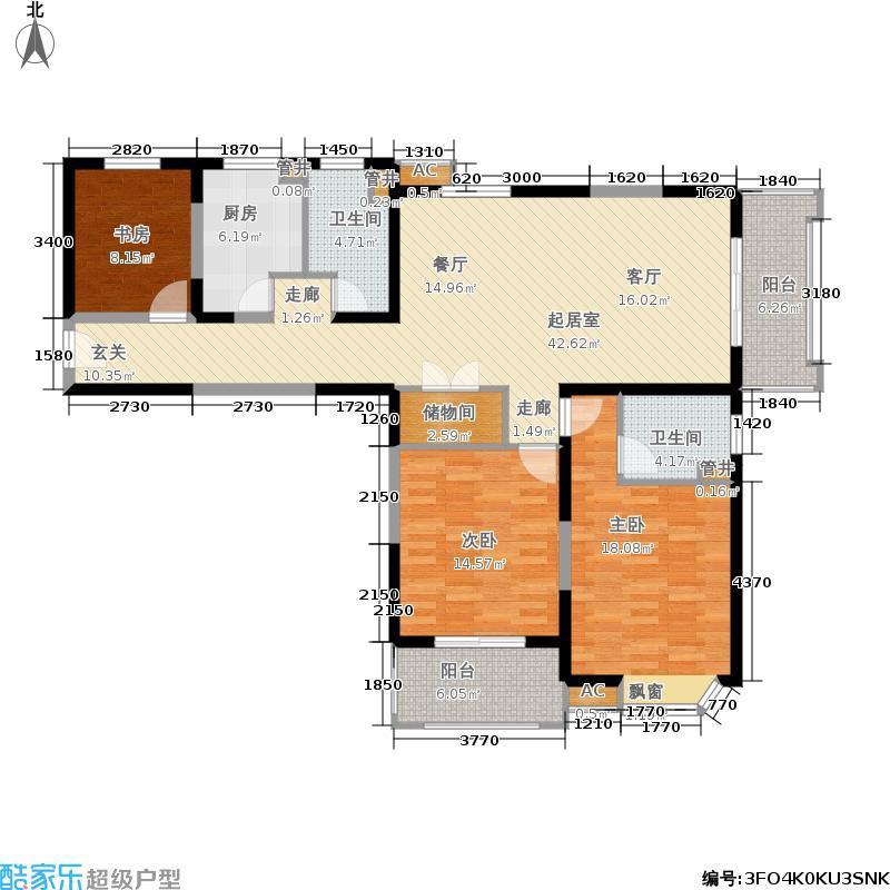 公园养生豪庭131.00㎡面积13100m户型