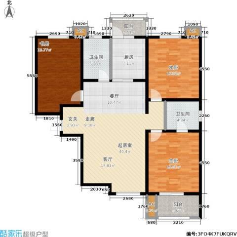汇博阳光水岸3室0厅2卫1厨135.00㎡户型图