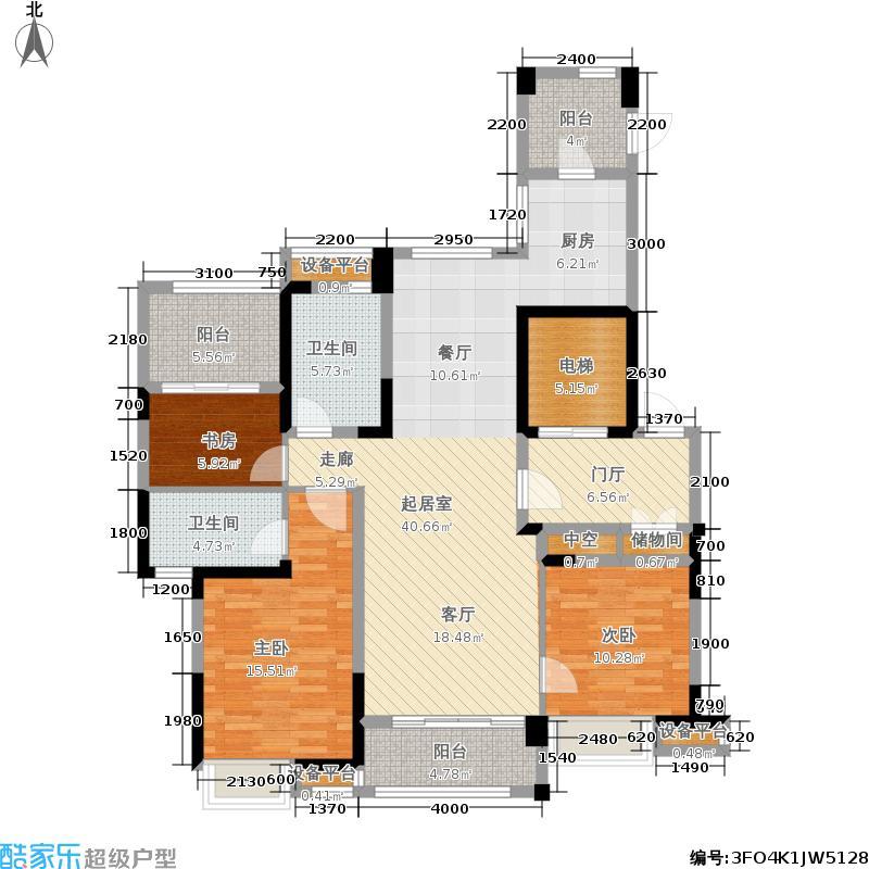 宝业光谷丽都138.30㎡二期6、7号楼D1户型3室2厅