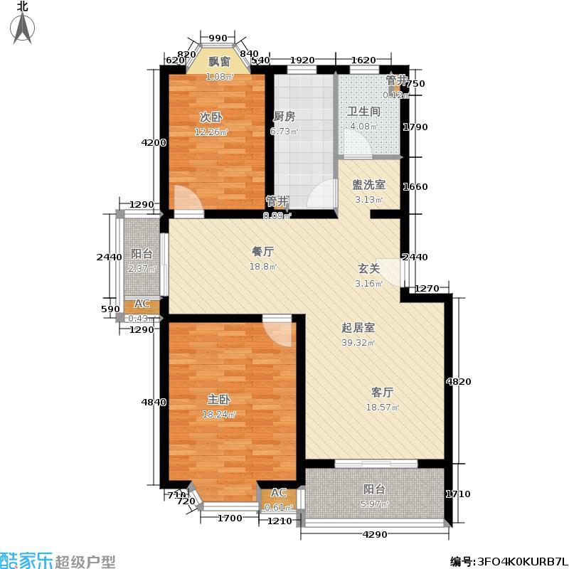 公园养生豪庭103.00㎡面积10300m户型