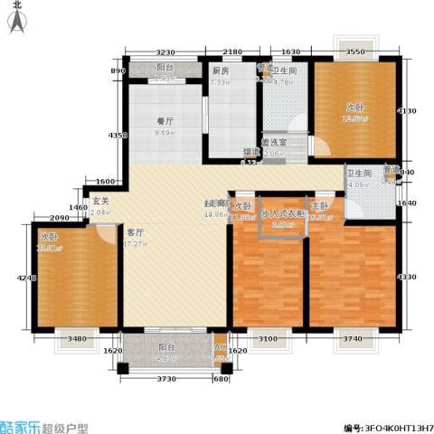 海上海新城4室0厅2卫1厨148.00㎡户型图
