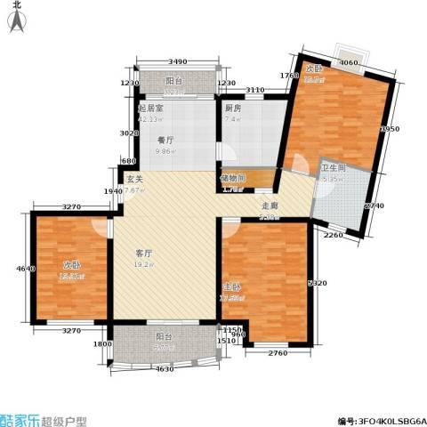 新时代富嘉花园3室0厅1卫1厨161.00㎡户型图