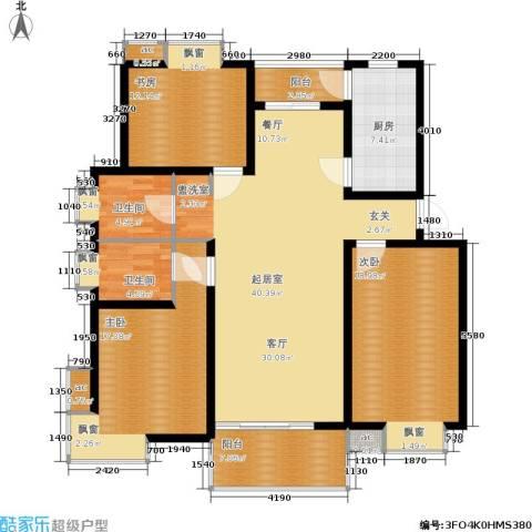 北桥春天3室0厅2卫1厨134.00㎡户型图