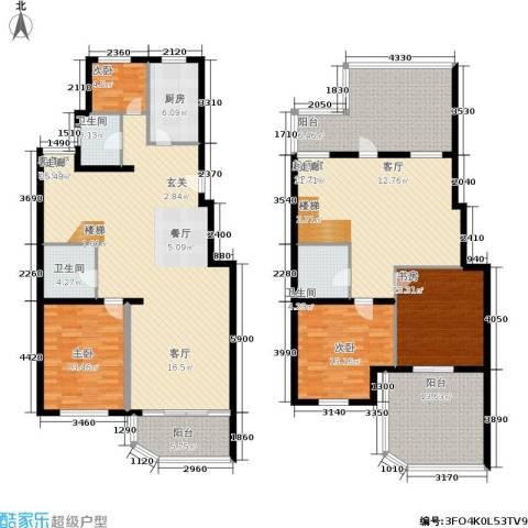 陆家嘴花园4室1厅3卫1厨197.00㎡户型图