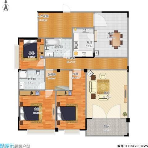 华盛・世纪新城3室2厅2卫1厨185.00㎡户型图