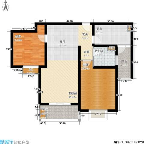 南洋博仕欣居2室0厅1卫1厨94.00㎡户型图