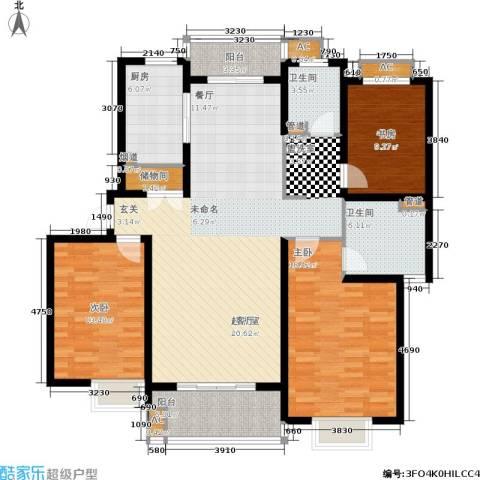 南洋博仕欣居3室0厅2卫1厨131.00㎡户型图