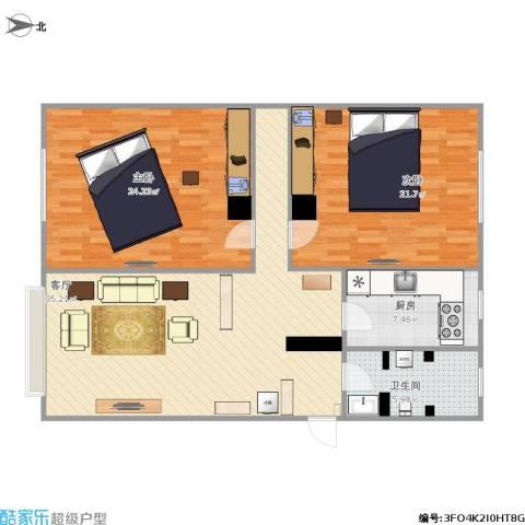 碧海云天2室1厅1卫1厨128.00㎡户型图
