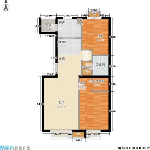 华联孔雀城2室0厅1卫1厨113.00㎡户型图