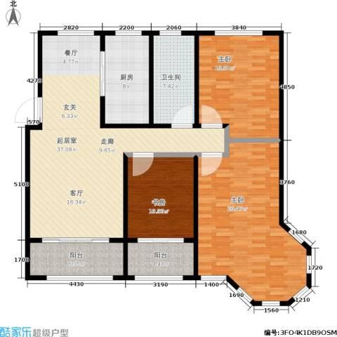 蓝钻庄园3室0厅1卫1厨130.00㎡户型图