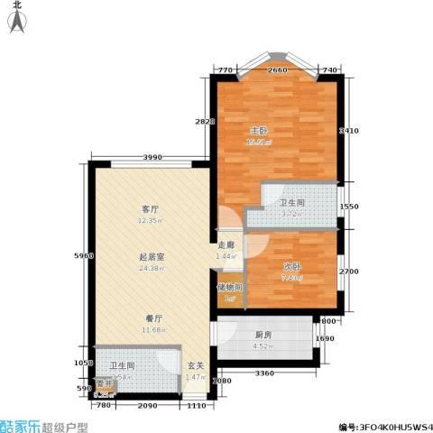 浦江茗园2室0厅2卫1厨68.00㎡户型图